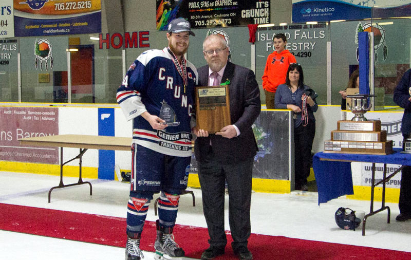 Cochrane's Connor Lovie named NOJHL Playoff MVP